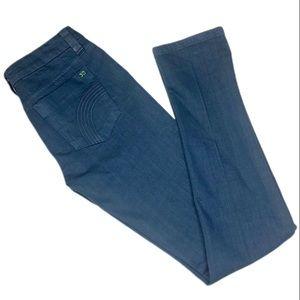 Joe's Blue Shimmer Skinny Jeans